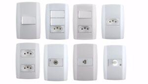 Interruptores e Tomadas marca Ilumi