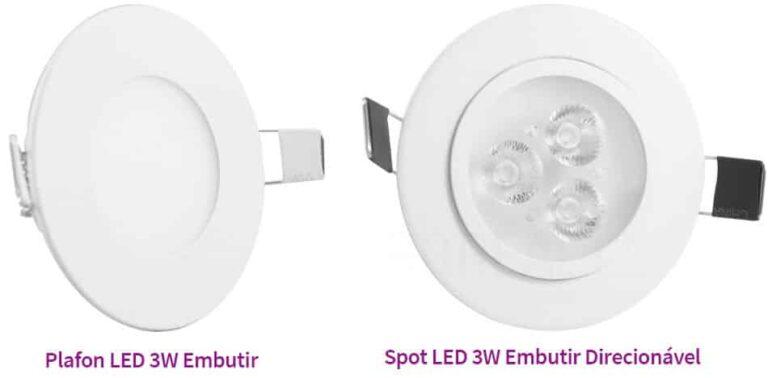 Comparativo Plafon vs Spot LED